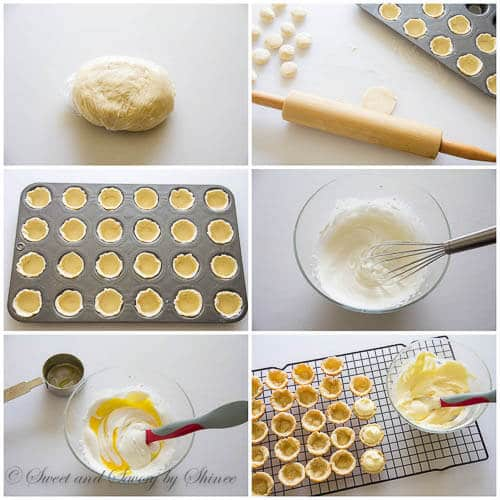 Raspberry lemon tartlets- step by step photo tutorial