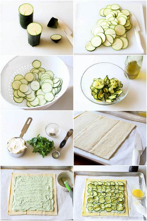Zucchini Ricotta Tart- step by step photo tutorial