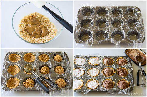 Mini ice cream pies- step by step photo tutorial