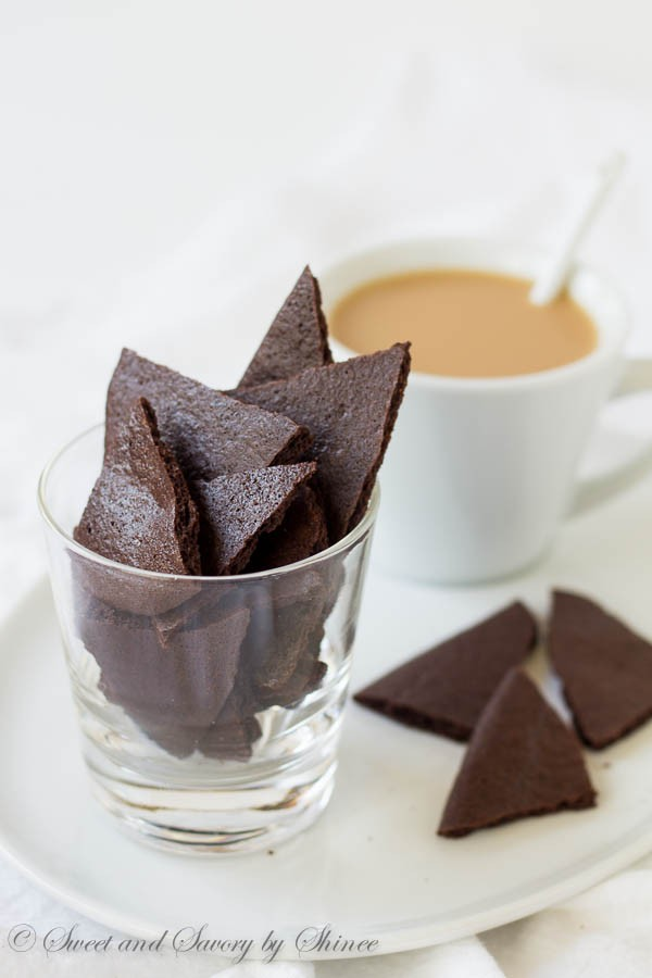 Crisp, rich and addicting, these thin brownie crisps will quickly become your favorite way to finish your morning coffee!