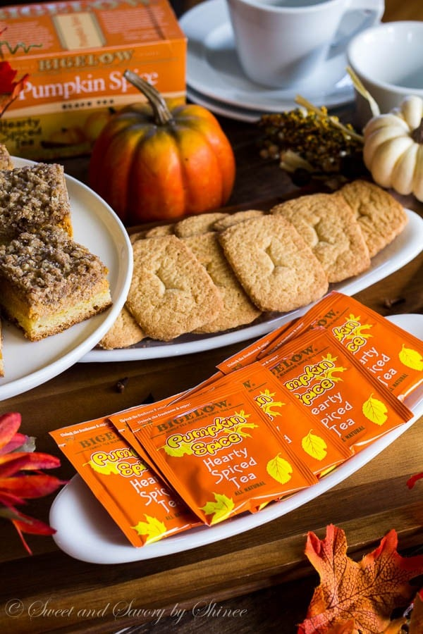 Relax and enjoy a cup of hearty Pumpkin Spice tea on a beautiful fall afternoon. It's time to enjoy the colored trees, all things pumpkin & spices, and of course, good friends.