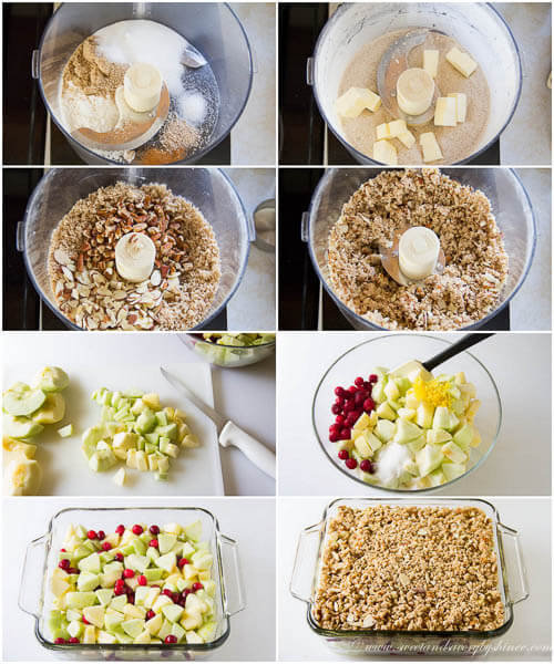 Apple cranberry crisp - step by step photo tutorial