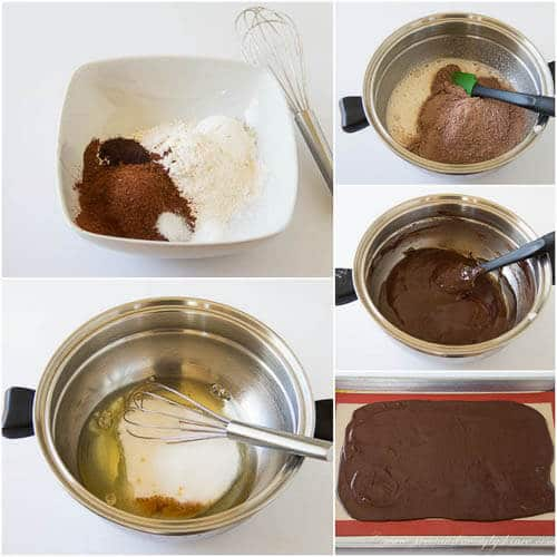 Brownie crisps - step by step photo tutorial