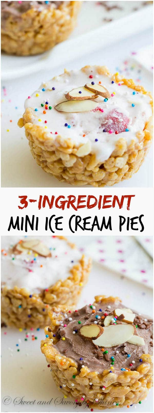 Mini ice cream pies for everyone! Only 3 ingredients to create the most fabulous summer treat.