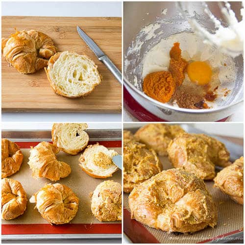 Easy pumpkin croissants- step by step photo tutorial