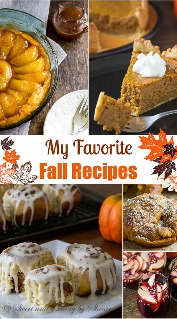 My favorite fall recipes that I'm sure you'll love from the very first bite. Give them a try!
