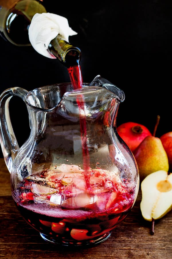 Easy party drink! Infused with succulent fall fruits, this sangria is bright, crisp and slightly sweet.