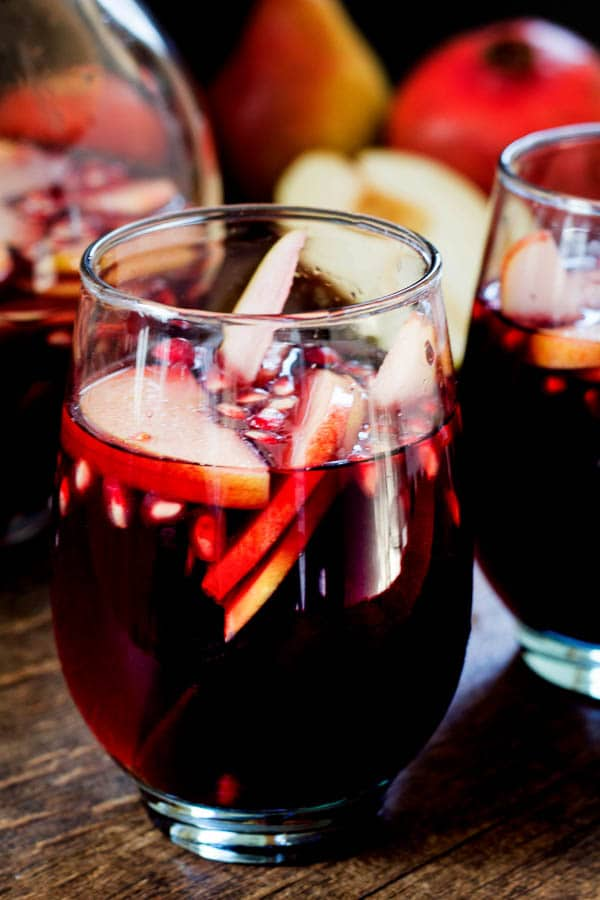 Make-ahead party drink filled with fabulous fall fruits! Easy sangria for a crowd!