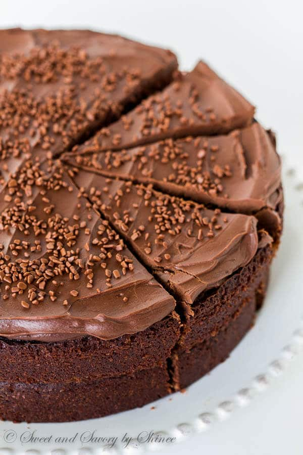 Ina's rich chocolate cake with generous mocha frosting is undeniably one of the best chocolate cakes out there! That mocha frosting is what really makes this cake!