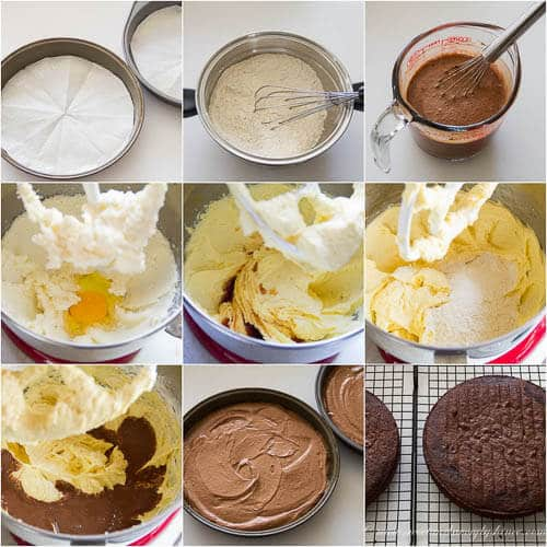 Ina's Chocolate Cake- step by step photo tutorial