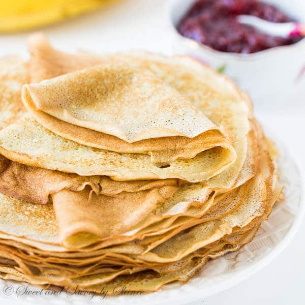 Learn how easy it is to make delicately thin n' lacy crepes in less than an hour with simple ingredients. How-to video is included!
