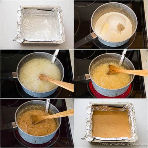 Cardamom caramel bites- step by step photo tutorial