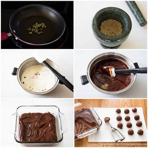Orange cardamom truffles- step by step photo tutorial