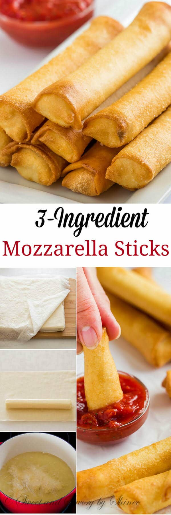 Delicately light and crispy, these 3-ingredient mozzarella sticks are so easy to make. Pair them with a side of great marinara and enjoy your game-day.
