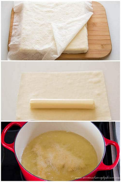 3-Ingredient Mozzarella Sticks- step by step photo tutorial