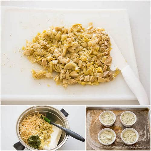 Pesto Artichoke Dip- step by step photo tutorial