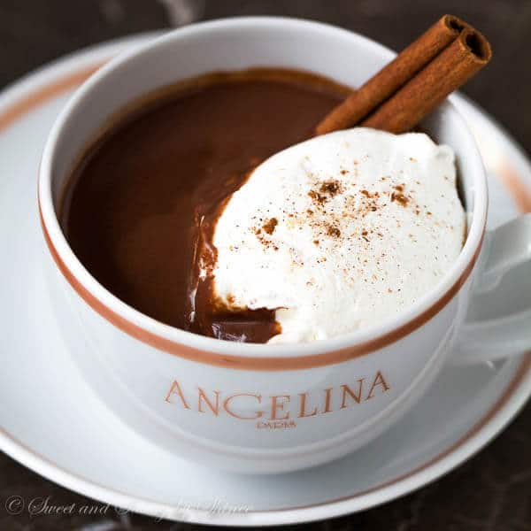 Made with unsweetened almond milk and dark chocolate, spiced with warm aromatics, like cinnamon, nutmeg and cardamom, this lighter hot chocolate is ideal for treating yourself frequently all winter long.