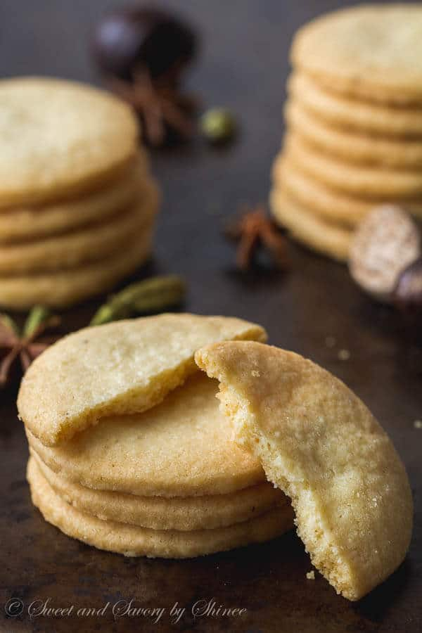 Delicate, buttery, rich shortbread cookies infused with variety of spices. These are by far my favorite cookies this season.