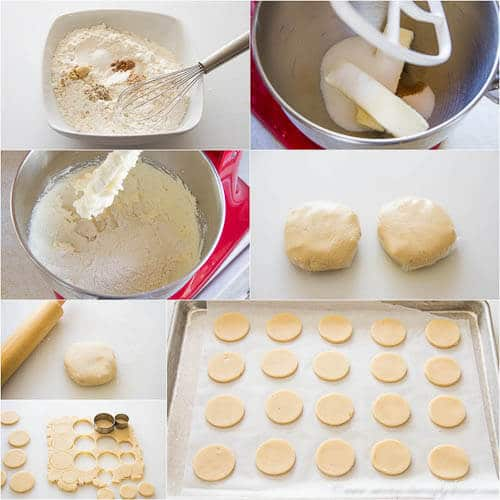 Spiced shortbread cookies- step by step photo recipe