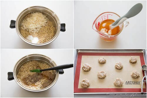 Hazelnut Coconut Cookies- step by step photo recipe