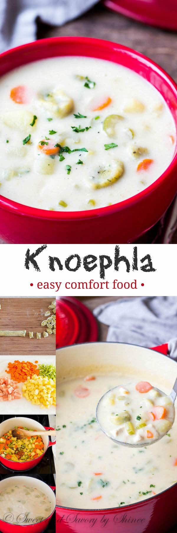 Warm your soul and body with this hearty knoephla soup, loaded with chewy herb-infused knoephla dumplings. Step-by-step photos are included!