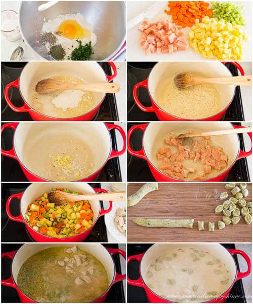 Knoephla soup- step by step photo recipe