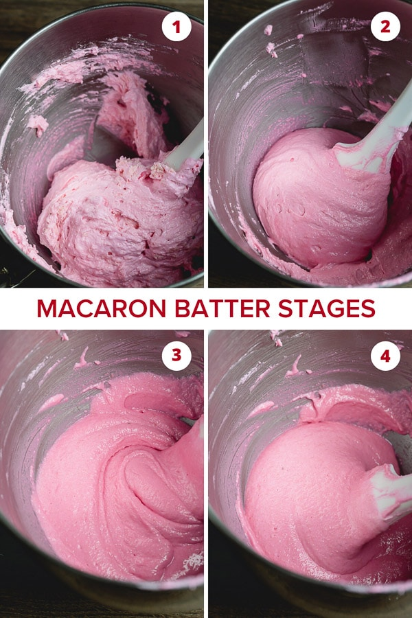 Macaron batter stages in photos...