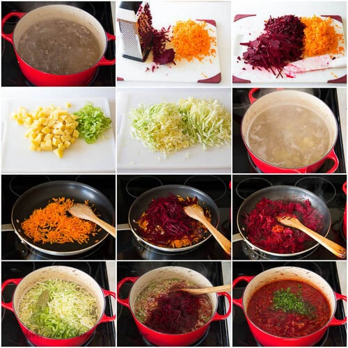 Classic Beef Borscht recipe step by step