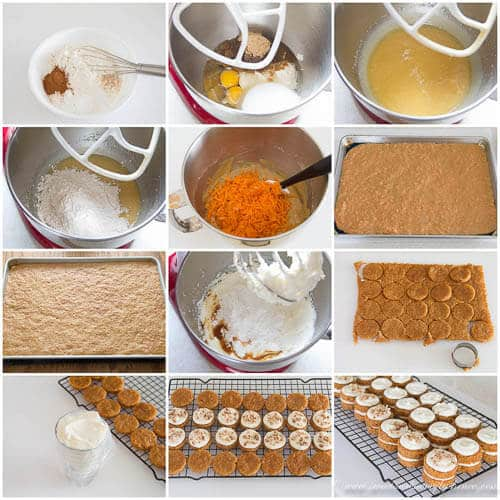 Mini carrot cakes - step by step photo instructions