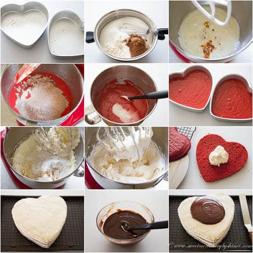 Red Velvet Layer Cake- step by step photo recipe