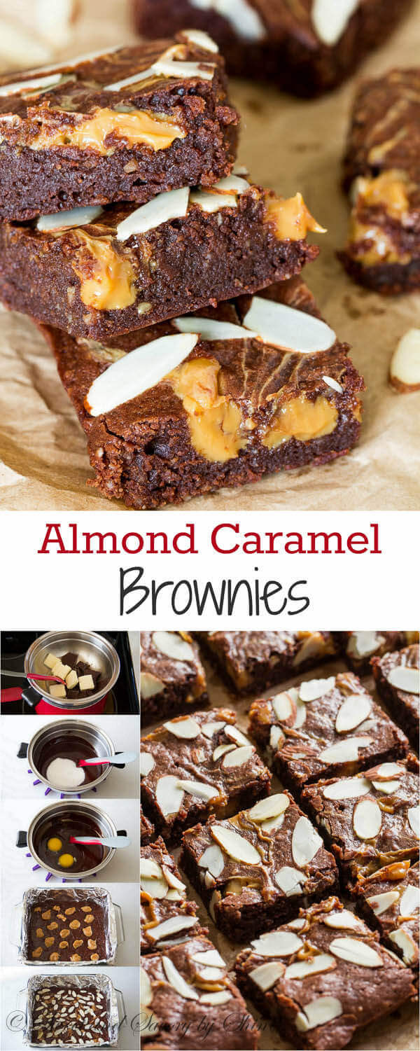 This rich and fudgy almond brownies laced with sweet and creamy dulce de leche comes together in just one bowl. This one is for all caramel-loving chocoholics, like myself!