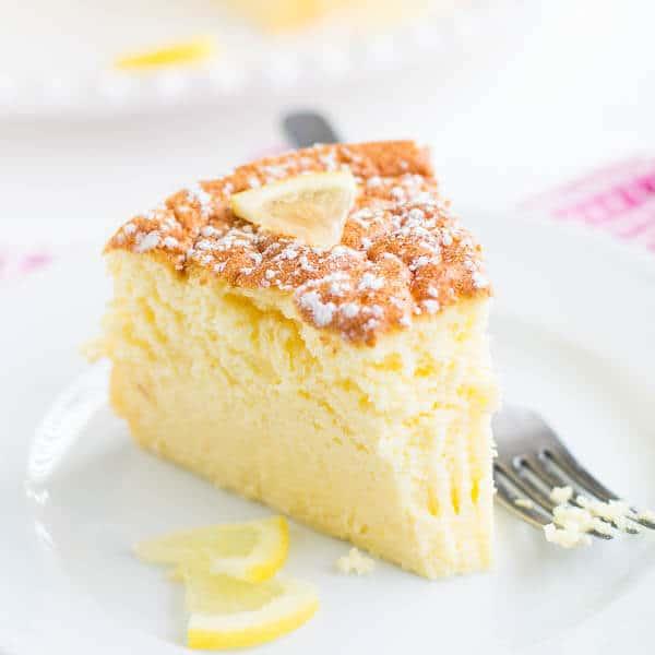 Lemon Souffle Cheesecake ~Sweet & Savory by Shinee