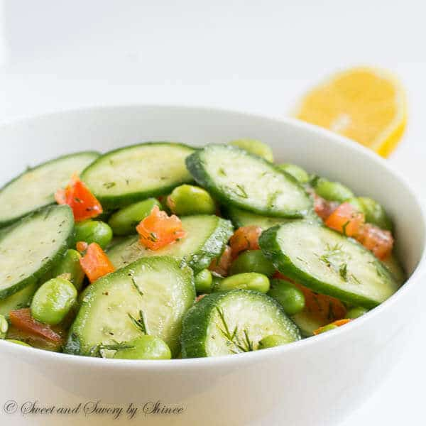 Fresh and flavorful cucumber edamame salad is simple, yet satisfying! It's your must try spring salad.