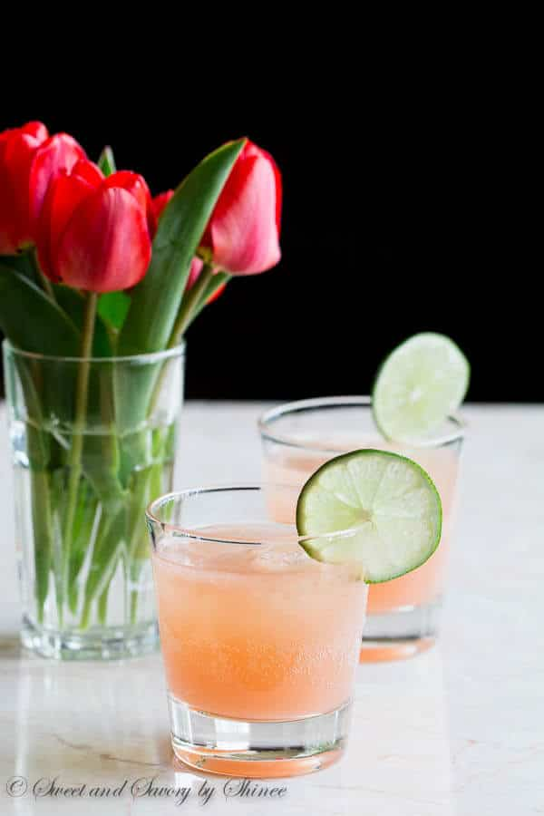 Nice and refreshing grapefruit paloma with a little bit fizz. Amazing drink for spring and summer!