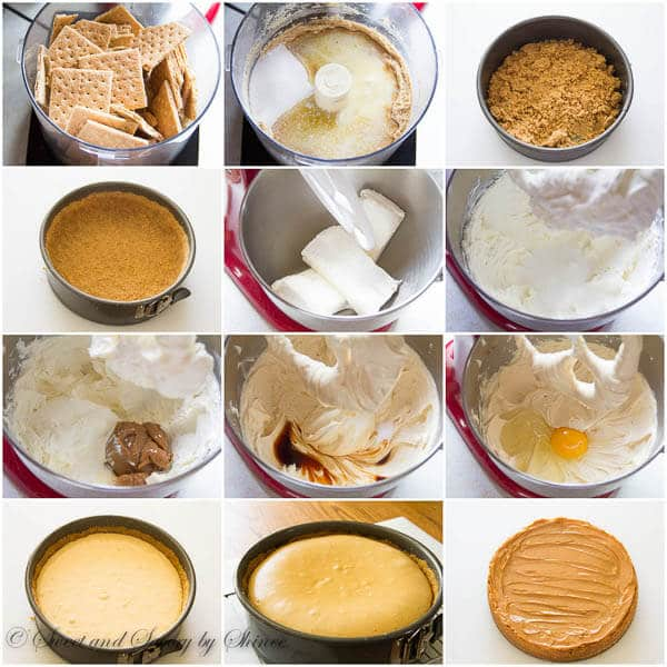 Decadent Dulce de Leche Cheesecake, step by step photo instructions