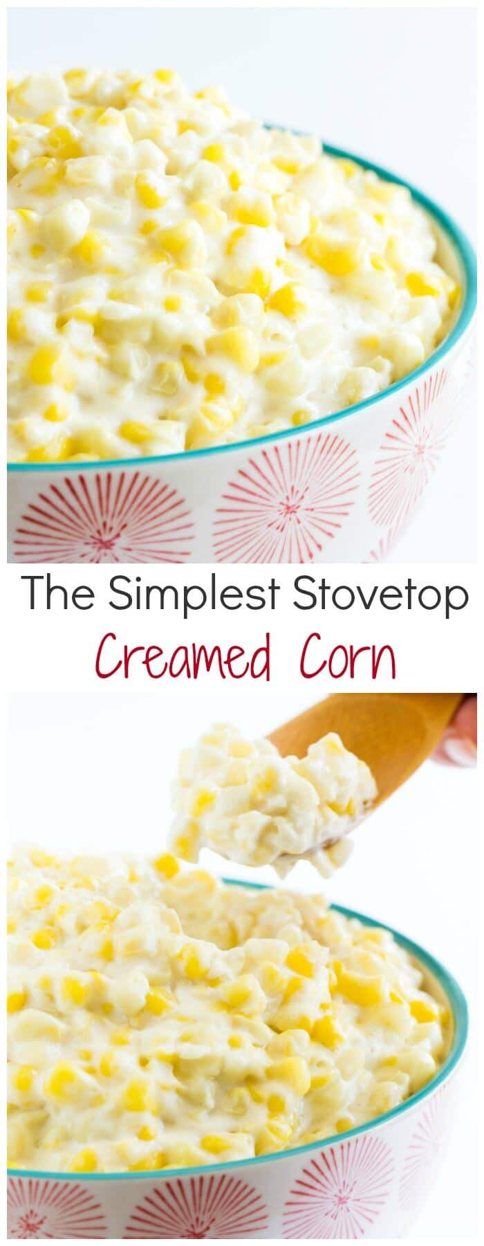 Irresistibly simple, sweet and creamy creamed corn comes together in just 10 minutes on the stovetop. Plus, you'll only need 3 ingredients!