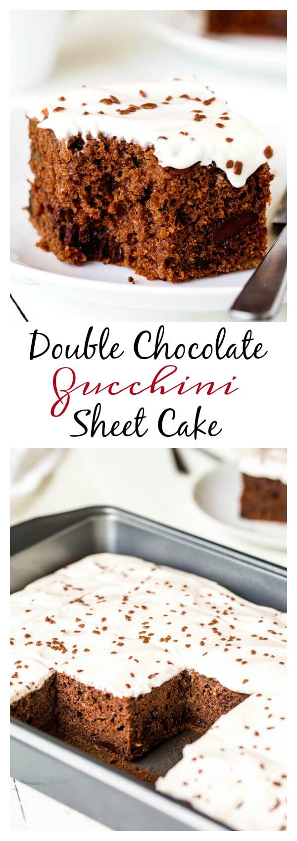 Double Chocolate Zucchini Sheet Cake