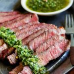 Grilled Steak with Chimichurri Saucec