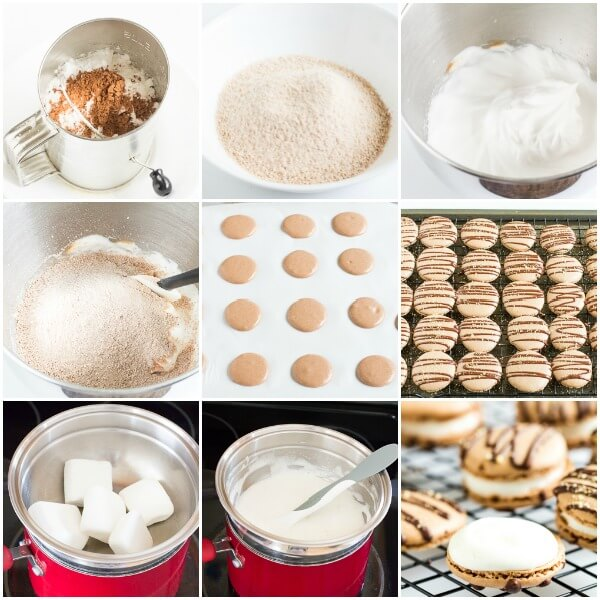 S'mores Macarons- step by step photos