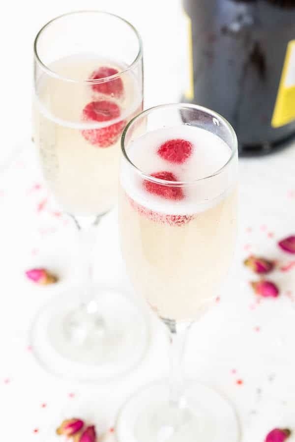 Rose Prosecco, a pleasantly sweet bubbly with delicate floral notes, is an elegant way to start a special dinner with your sweetheart.