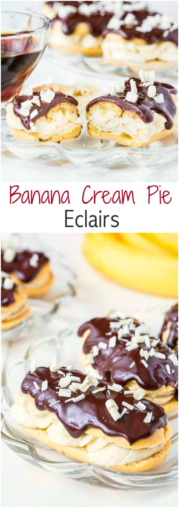 The same delicious banana cream pie flavors, but in a dainty pastry form! So indulgent and so good!