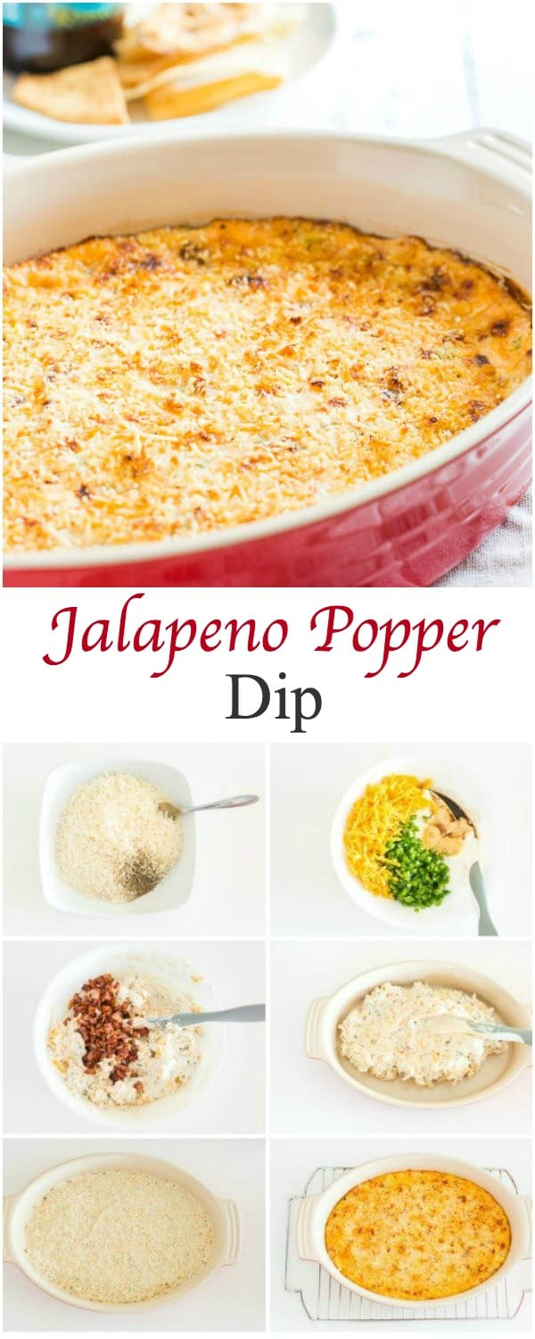 A time-tested crowd-pleaser! This jalapeno popper dip is rich, creamy, and mildly spicy.