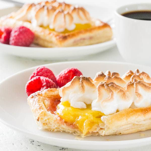 Never fails to impress, these raspberry lemon meringue tartlets are ultra-light, bursting with sweet and tart flavors in every bite. Think lemon meringue pie, but lighter and more sophisticated! Perfect for showers, Mother's Day and beyond!