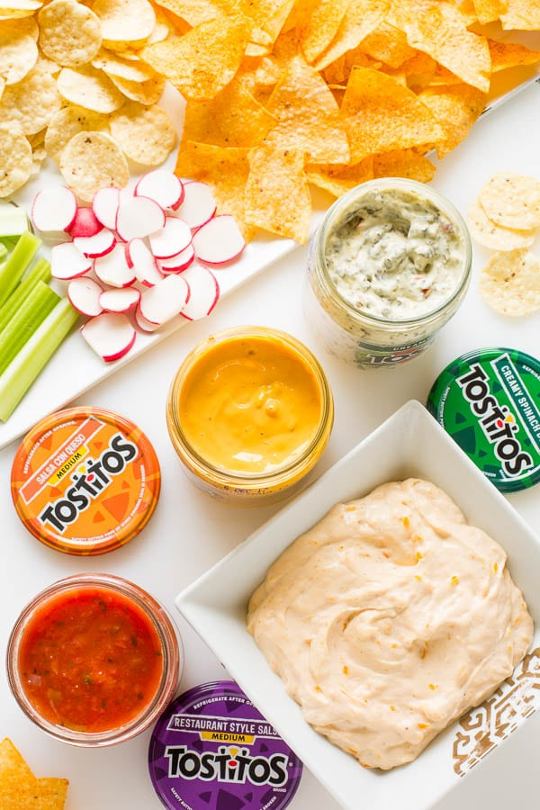 Simple 3-ingredient party cheese dip is easy to make and customize with different flavors! Spend less time in the kitchen and more time with your friends this summer.