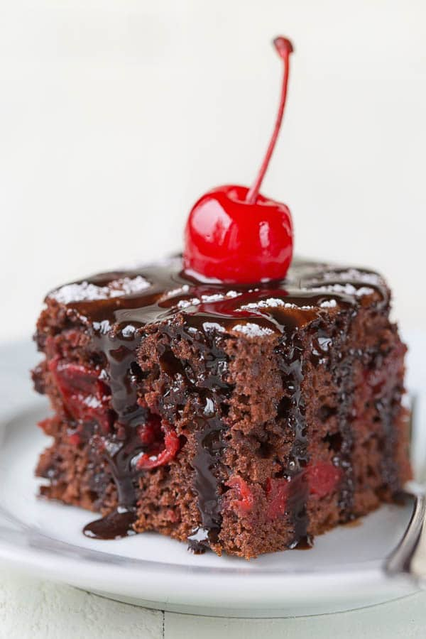 3 ingredient chocolate cherry cake sweet savory by shinee