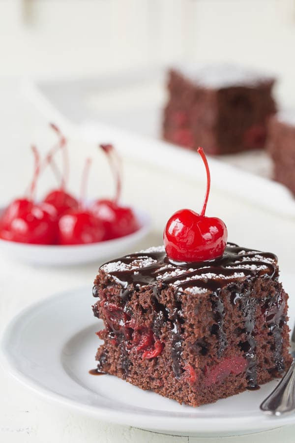 Surprisingly moist and soft, this 3-ingredient chocolate cherry cake is a crowd-pleaser. You'd be amazed how easy it is to make it too!