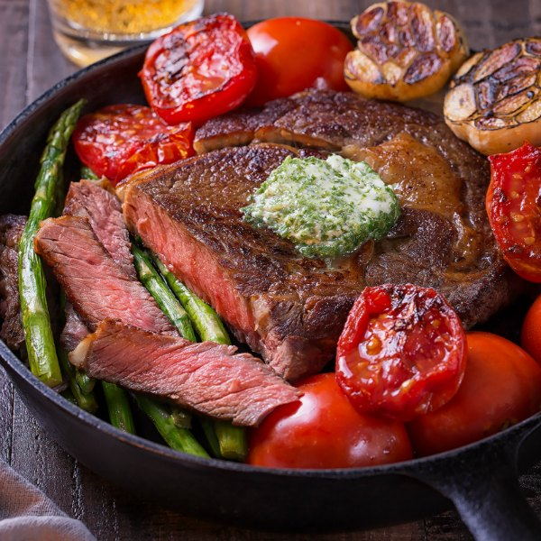 when paired with this aromatic herb butter for steak, you're sure to impress!
