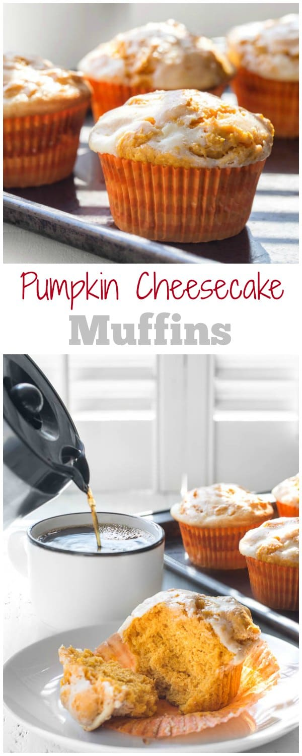 Not joking. Pumpkin muffins without eggs are easy to make and oh-so-delicious!! It's possible! You're only 4 simple ingredients away from these tall, dense, yet moist pumpkin cheesecake muffins!