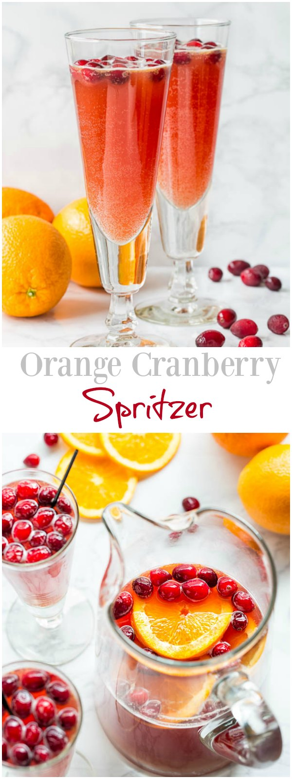 Orange Cranberry Spritzer - deliciously refreshing mocktail with Schweppes® Ginger Ale that's just as fancy as any cocktail.