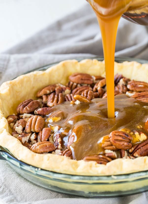 Rich and nutty, gooey and sweet, just how the best pecan pie should be! And bonus, it's the easiest pie you could make.